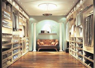 A nice walk-in closet.