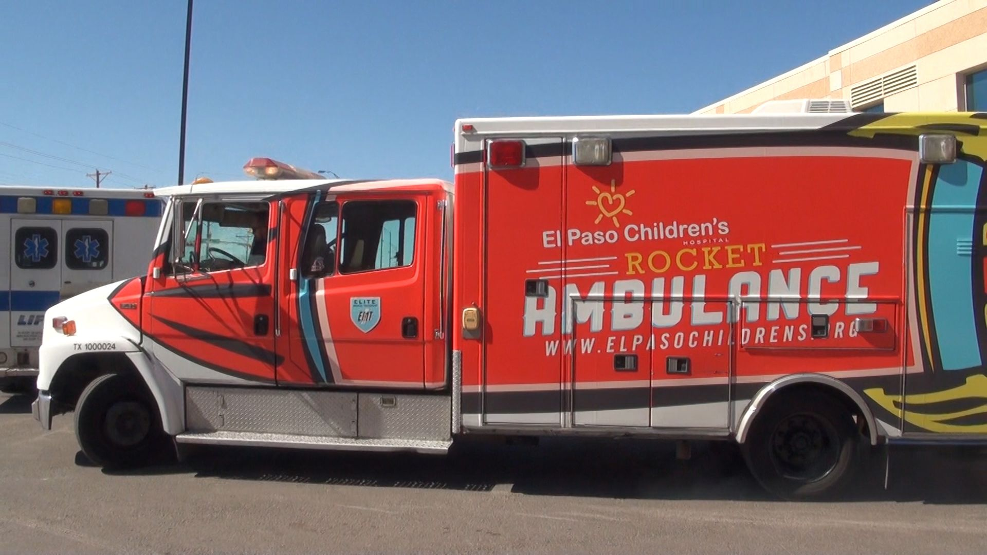 El Paso Children's Hospital Rocket Ambulance. To donate