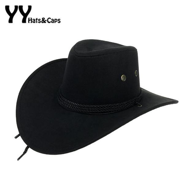5aa8bcce60f  FASHION  NEW Western American Mens Cowboy Hats Wide Brim Travel Sun Hat  Cowboy Cowgirl