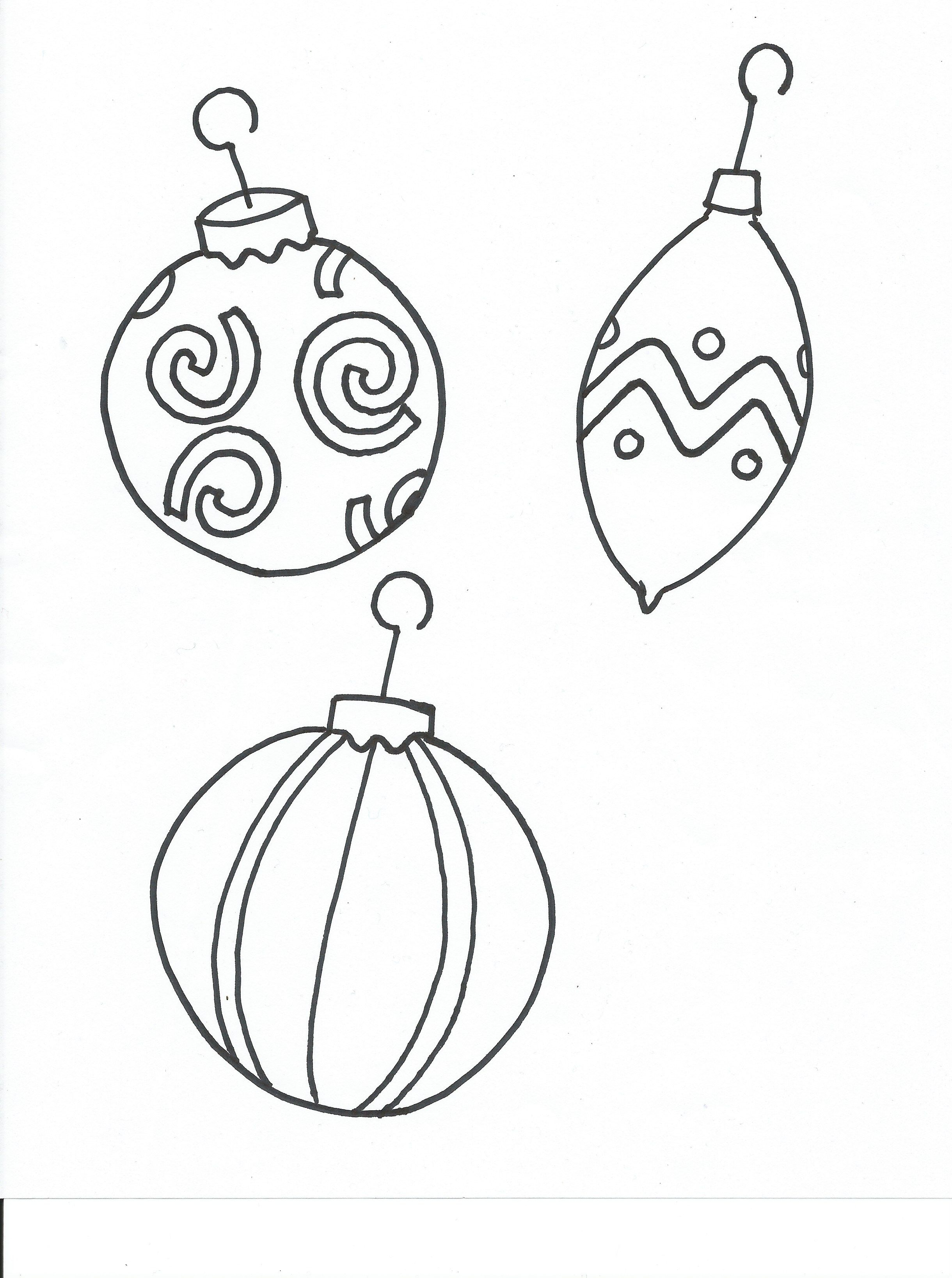 Christmas Ornaments Cutouts Printable | Coloring Pages Christmas ...