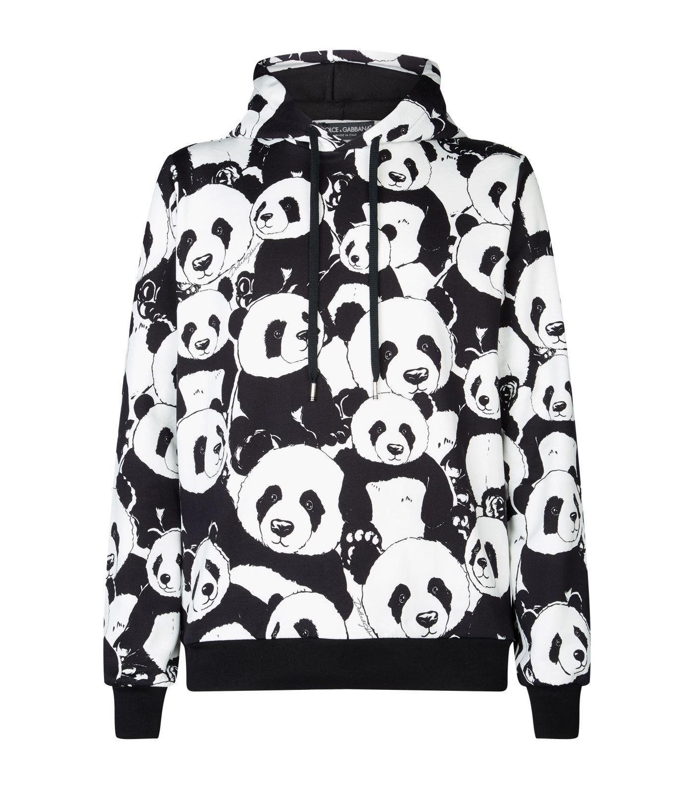 Dolce & Gabbana Panda Printed Bomber Jacket In Black