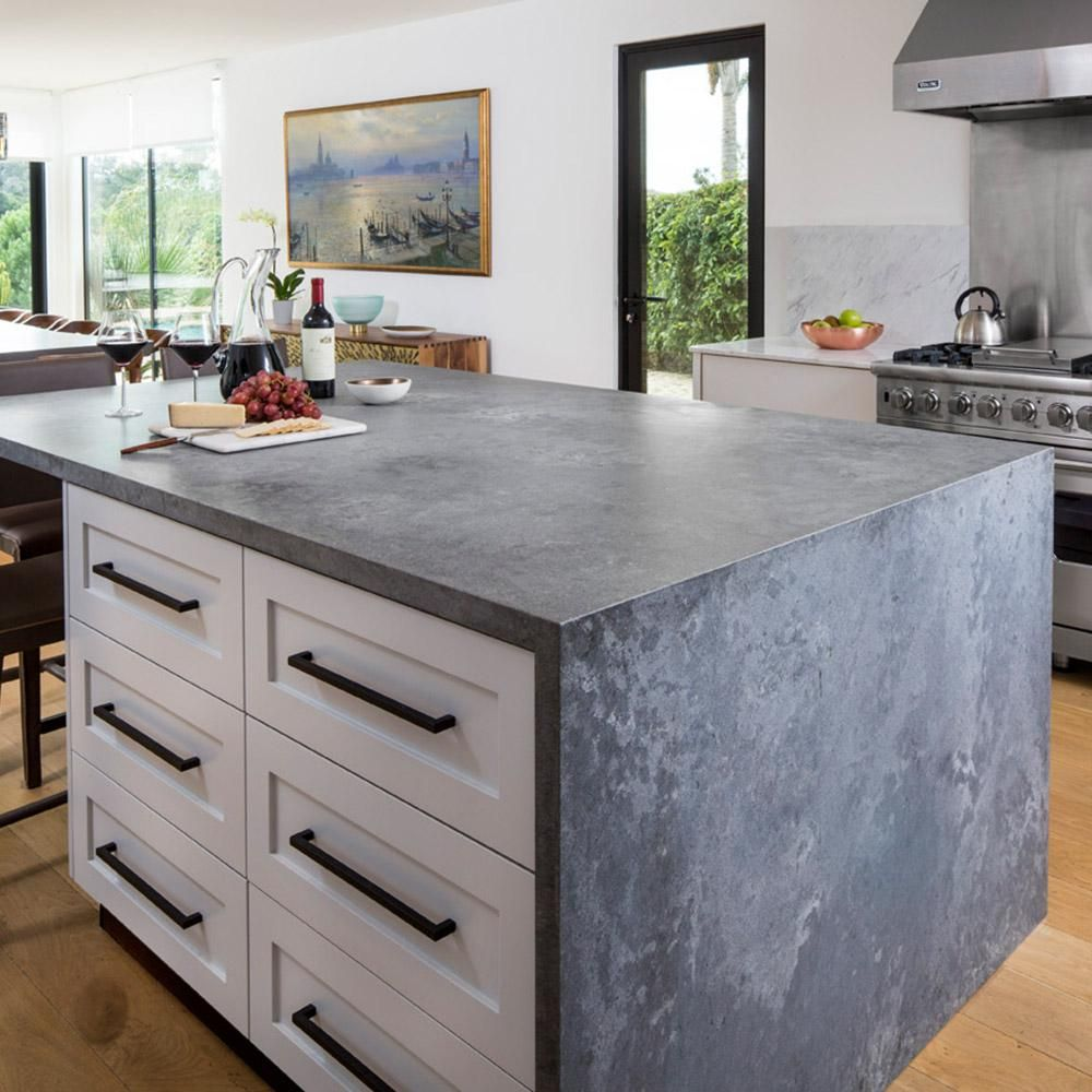 Caesarstone 10 In X 5 In Quartz Countertop Sample In Rugged Concrete With Rough Finish 4033 Countertops Kitchen