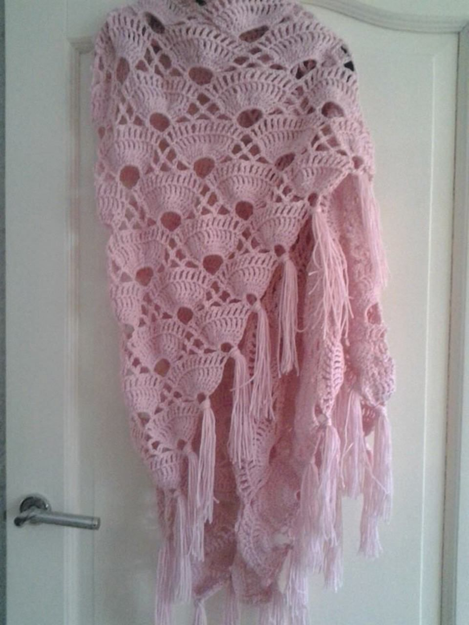 Schelpen Omslagdoek Rose Zie Ook Patroon Deel 1 En 2 Crochet