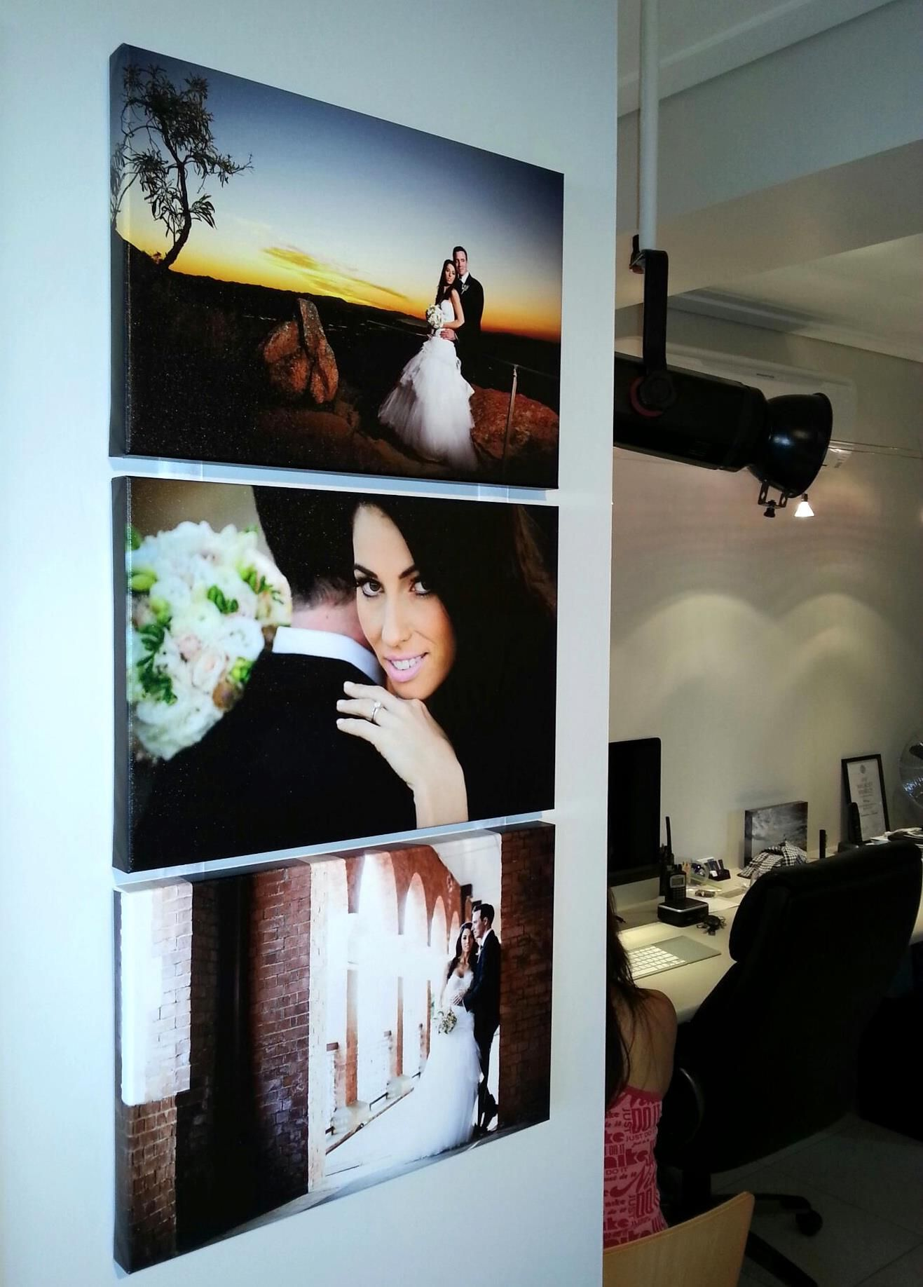 I like the big blown up picture.  I can't wait to see our wedding pictures.  I will have one of you blown up and hang it somewhere I look a lot.