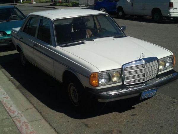 1982 White Mercedes Benz Turbo Diesel