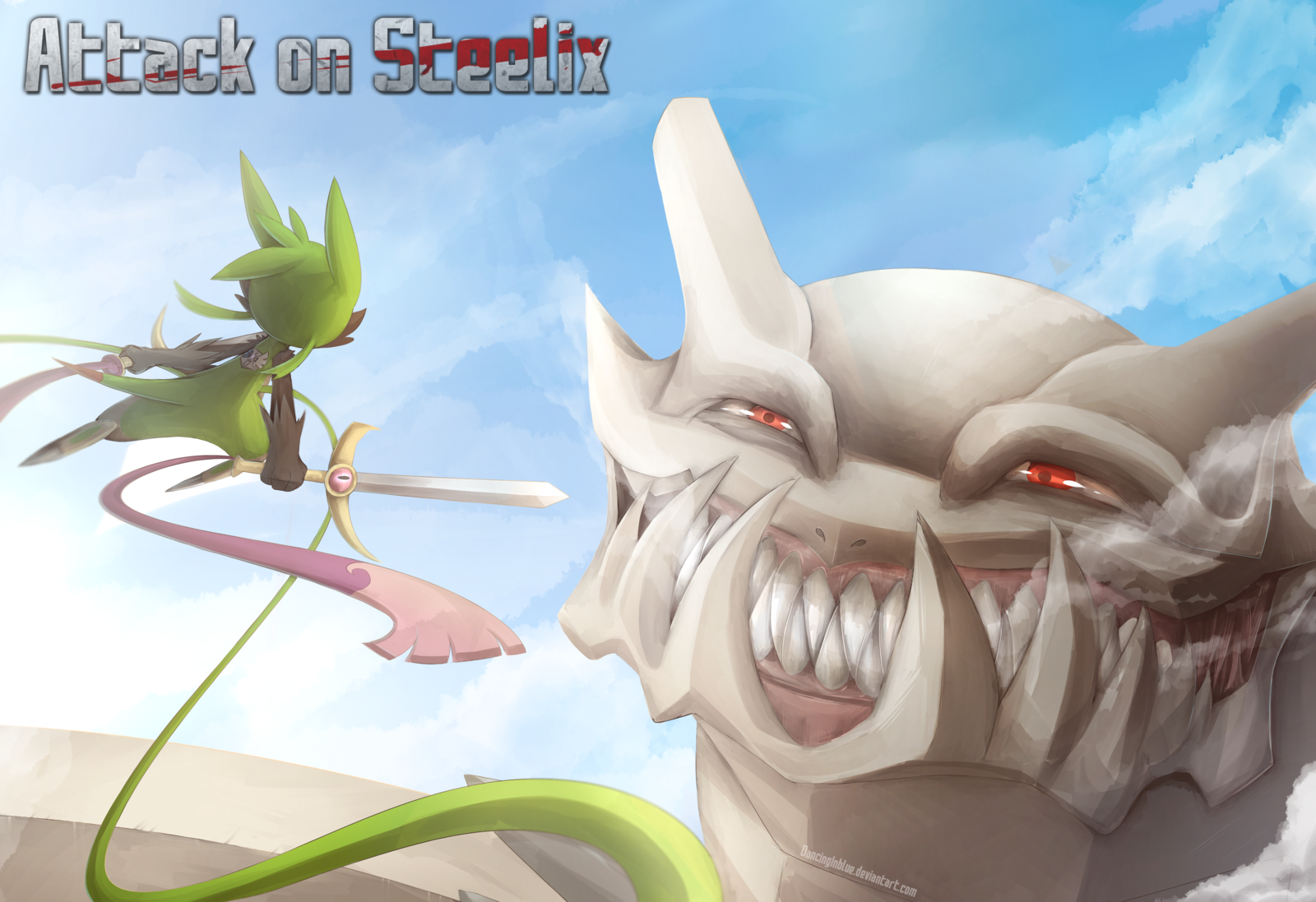 Attack On Titan Pokemon Doublade Attack on Steelix by D...