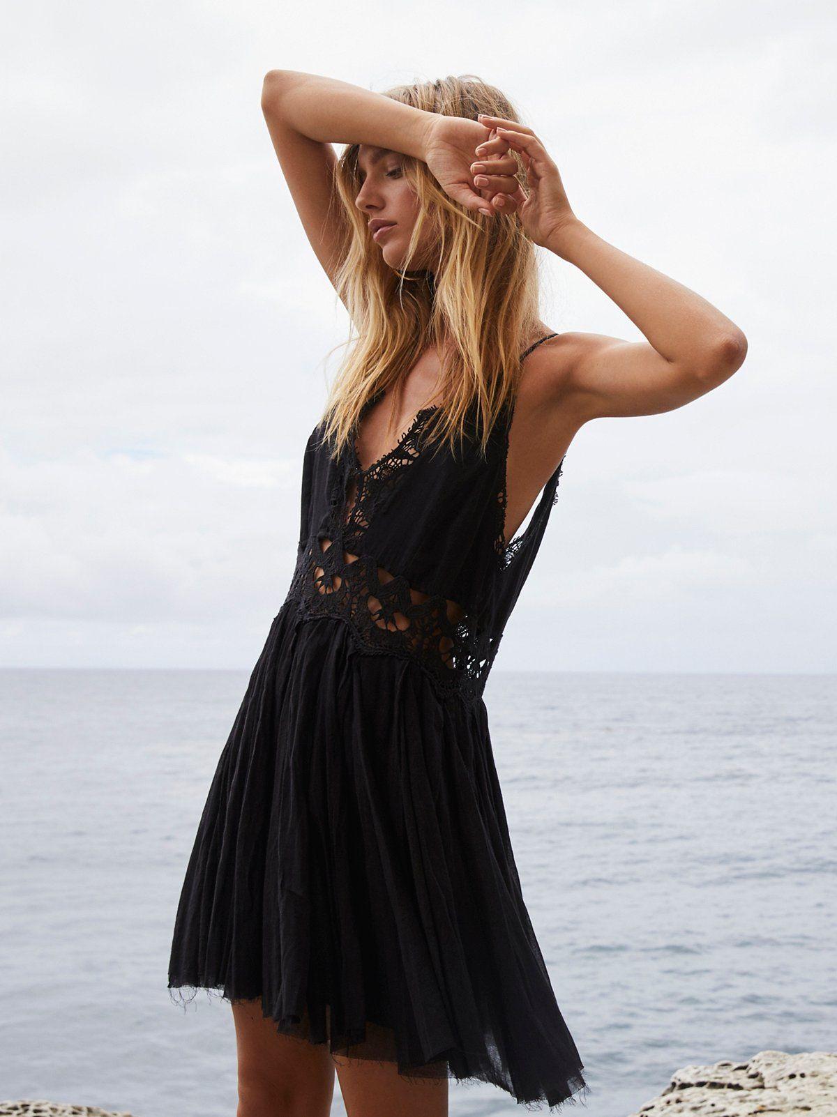 Fp one coast to cove mini dress lightweight cotton mini dress