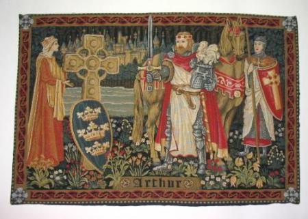 Tapisserie Roi Arthur La Boutique Medievale Roi Arthur Tapisserie Medievale Chevalier Medieval
