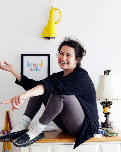 "Ilana Glazer on Design Sponge ""I hope people feel like life is silly, and there's no need to stress."""