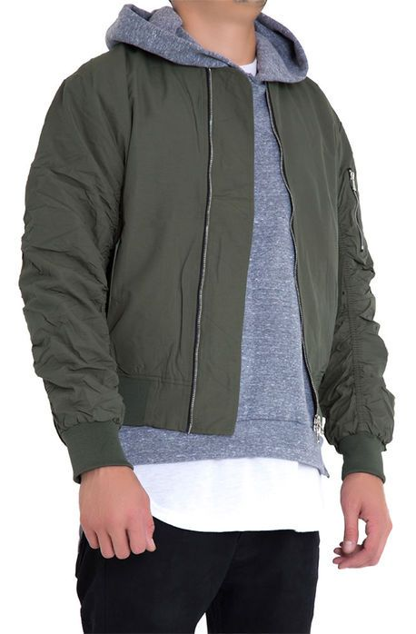 0075625ff The Bird Bomber Jacket in Olive | Nice Clothes | Jackets, Bomber ...