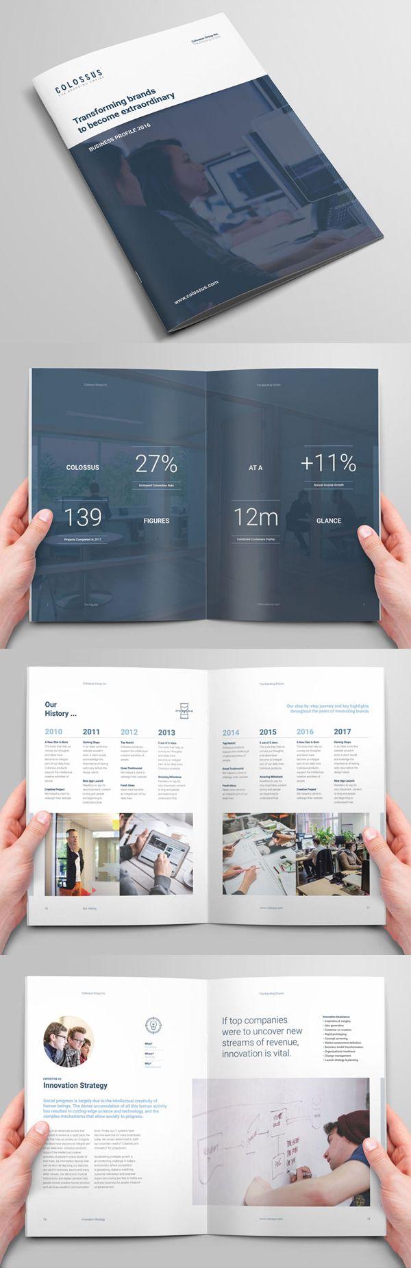Corporate Profile Brochure | 排版&摆拍 | Pinterest | Diseño ...