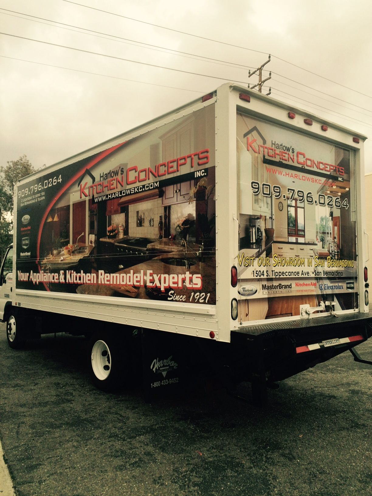 Harlowu0027s Kitchen Concepts In San Bernardino Delivery Truck Wrap By  R81Wraps.com We Designed,