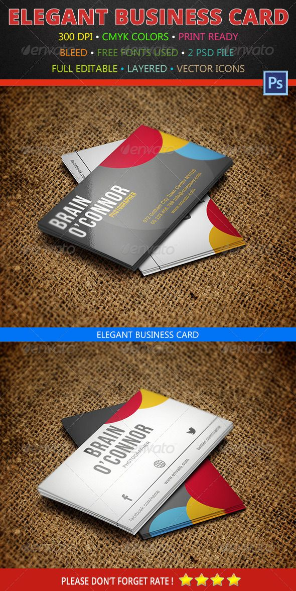 Photographer Business Card 160