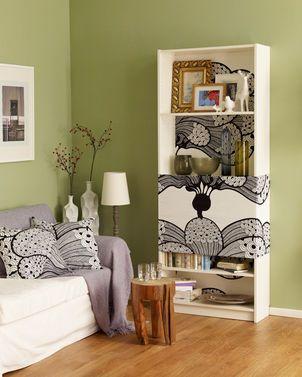 dieser ikea hack ist richtig klasse mit tapete sieht ein. Black Bedroom Furniture Sets. Home Design Ideas