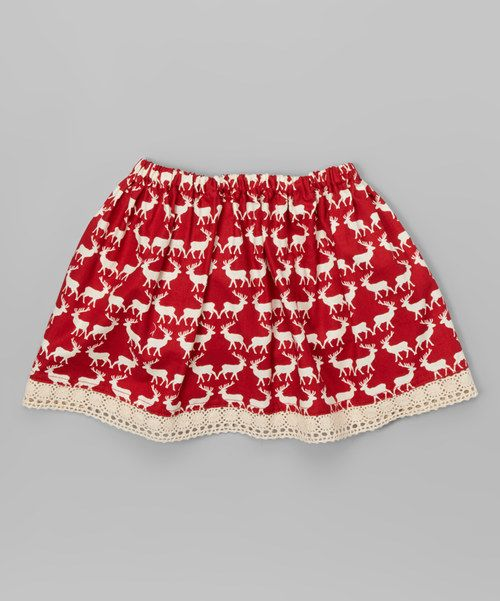 Look at this Red Reindeer Skirt - Infant & Toddler on #zulily today!