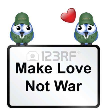 Fai l'amore non la guerra segno photo