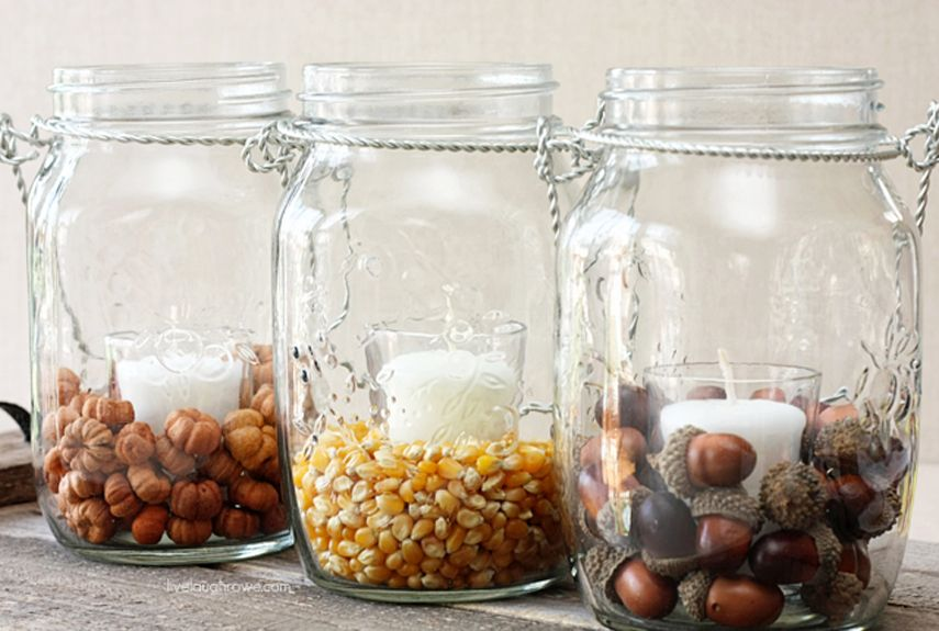 30 Mason Jar Crafts That Will Get You So Excited for Fall & 30 Mason Jar Crafts That Will Get You So Excited for Fall | Hanging ...
