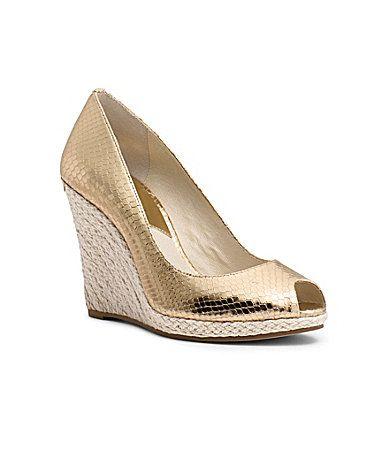 d85b52212a5752 MICHAEL Michael Kors Keegan PeepToe Wedge Sandals  Dillards Flat Gladiator  Sandals