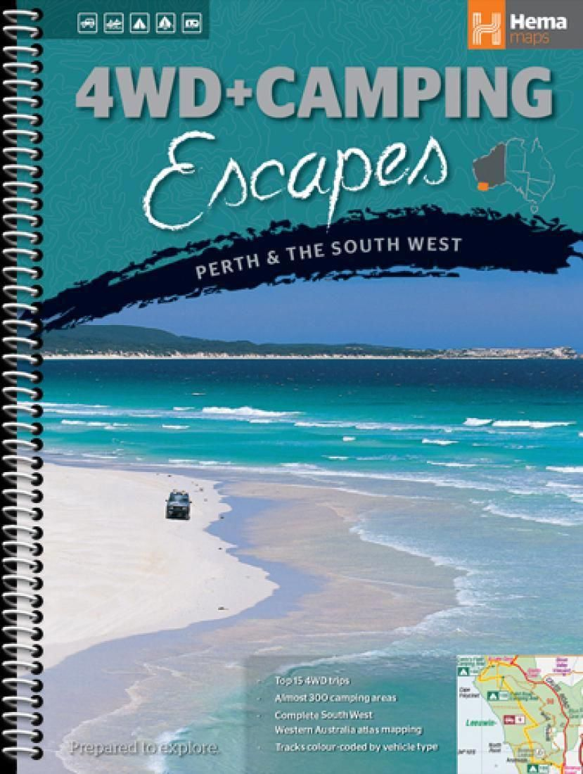 Western Australia 4wd Map.Perth And The South West Australia 4wd And Camping Escapes By Hema