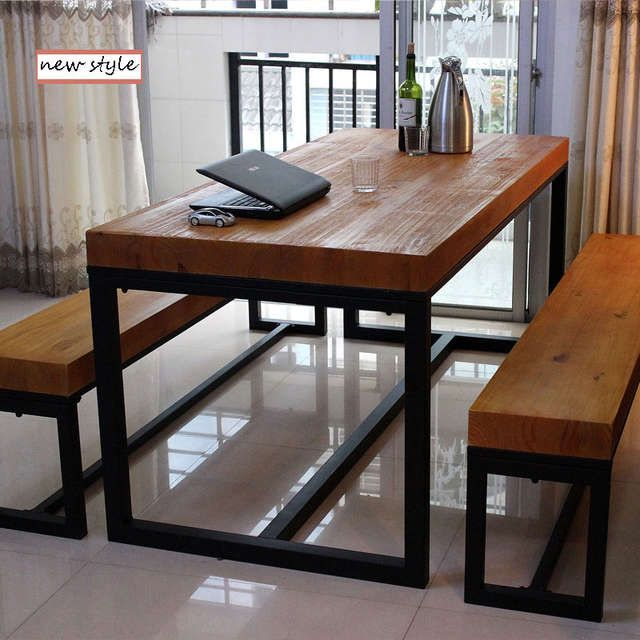700.2US $ |living room furniture dinning table and chair  wrought iron for dinning room American country and do retro style|table tennis table sales|furniture fittingtable tennis rubber sale - AliExpress