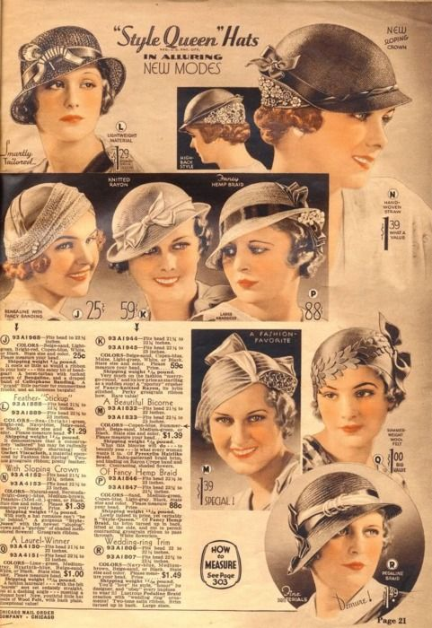 this was a gorgeous look... dont care what anyone says... women had more style then... ~ Chicago Mail Order Catalog, 1933