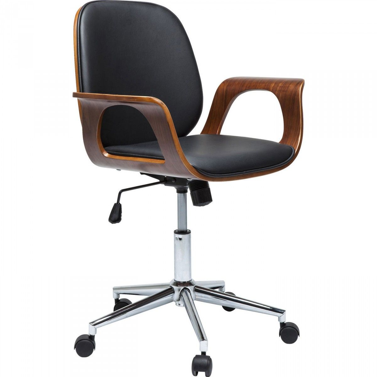 Silla Giratoria Patron Walnut With Images Office Chair Kare