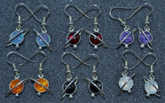 Planetismal Earrings with 8 mm Gemstone are the result of my fascination with…