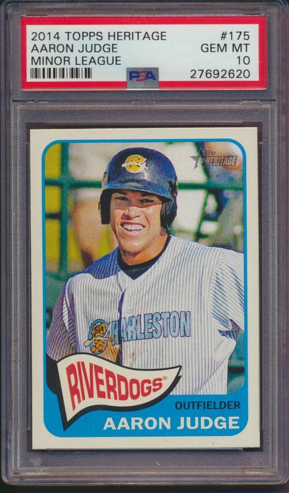 2014 Heritage Minor League Aaron Judge Rc Psa 10 New York