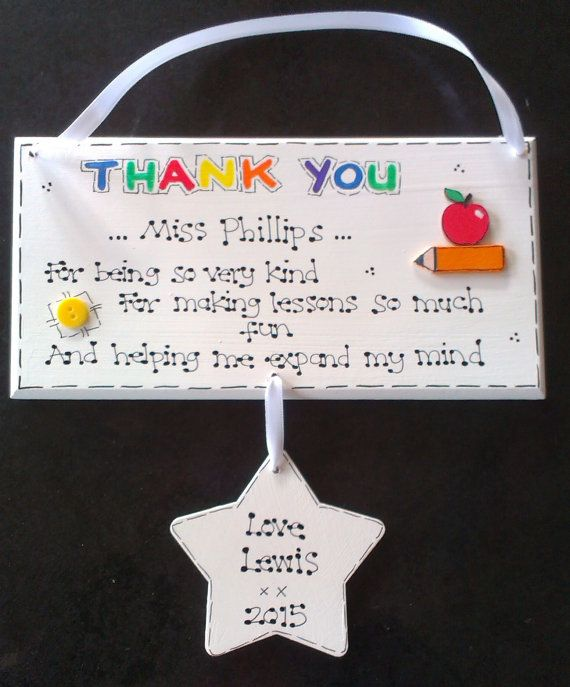 Teacher Gift Present Thank you Nursery Pre School Childminder Leaving Apple Lady