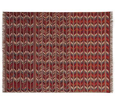 Pratt Indoor/Outdoor Synthetic Kilim Rug, 9x12\', Red Multi | Indoor ...