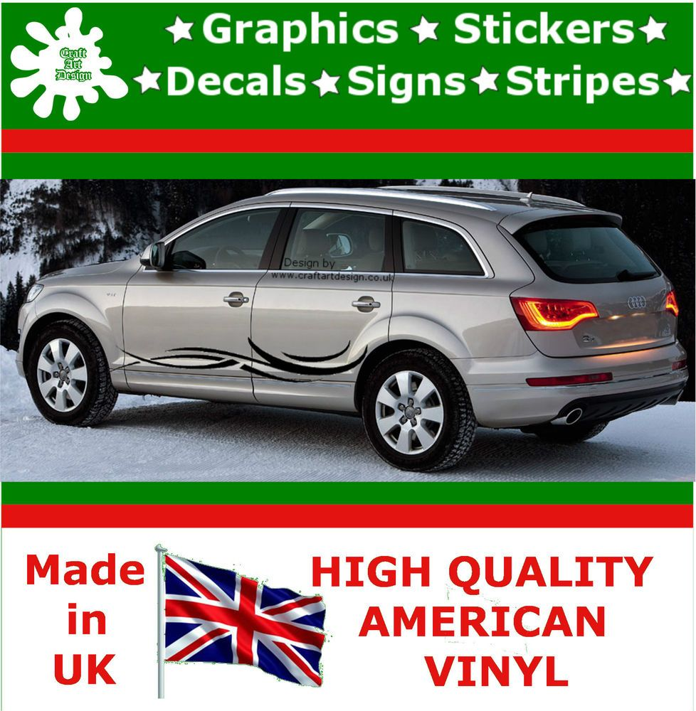 Car Side Strips Large Flame Graphics X Decal Vinyl Stickers Van - Vinyl decals for cars uk