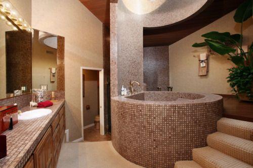 Practical Bathrooms luxury master bedrooms in mansions | rain-shower-bathtub # stylish