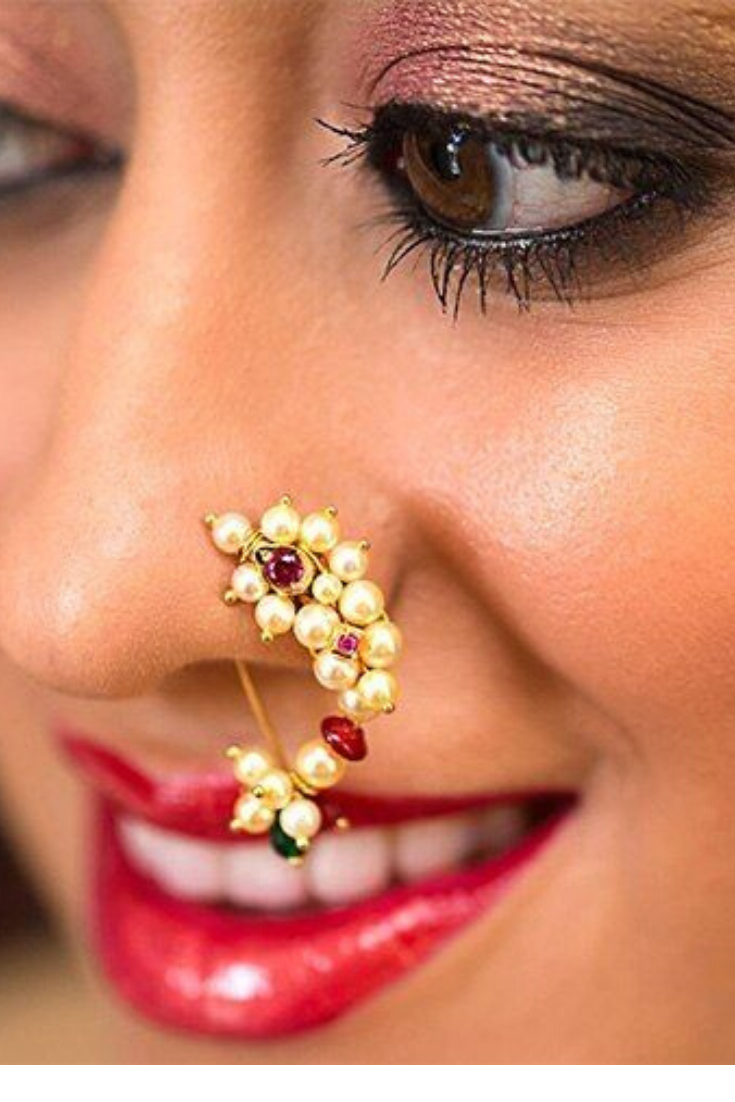 Anuradha Art Silver Finish Styled With Round Shape Simple /& Stylish Press On Nose Ring// Pin For Women//Girls