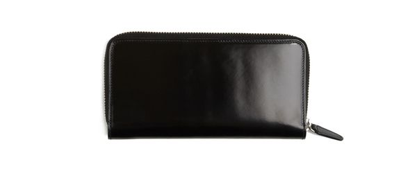 Il Bussetto Continental Leather Wallet (Black) - Fully zipped leather wallet with six interior card slots, a bill compartment and an interior zipper pocket compartment lined in canvas. Hand-painted, polished and waxed vegetable tanned leather. Made in Italy. Also available in Brown.  $189.00