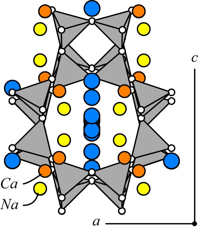 Calcium Silicate Crystal : Gobbinsite hydrated sodium potassium calcium aluminum