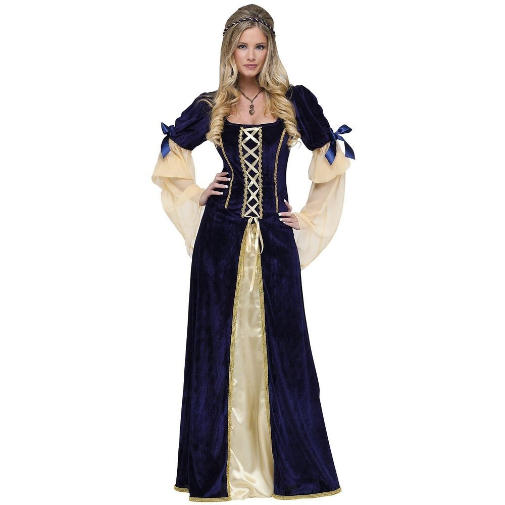 Princess Pearl Medieval Renaissance Fancy Dress Up Halloween Child Costume