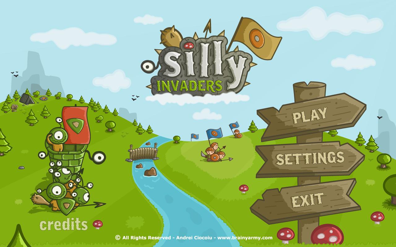 Silly Invaders Main Menu By Andrei Ciocoiu Game Design UI GUI - Game menu design