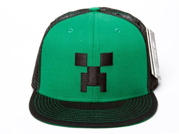 fb92141b47bd9 Minecraft Creeper Face Premium Snap Back Hat now available at  www.TheShoppingBagStore.com