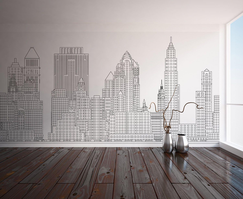 Manhattan Skyline New York City Nyc Custom Printed Wall Custom Wall Murals Wall Art Wallpaper Wall Prints