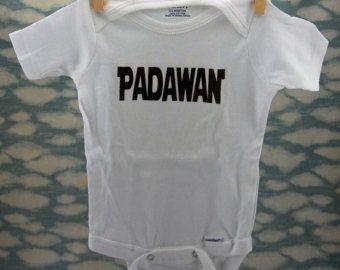 Padawan white cotton bodysuit