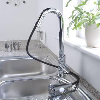 Chrome Pull Out Kitchen Faucet Elegant