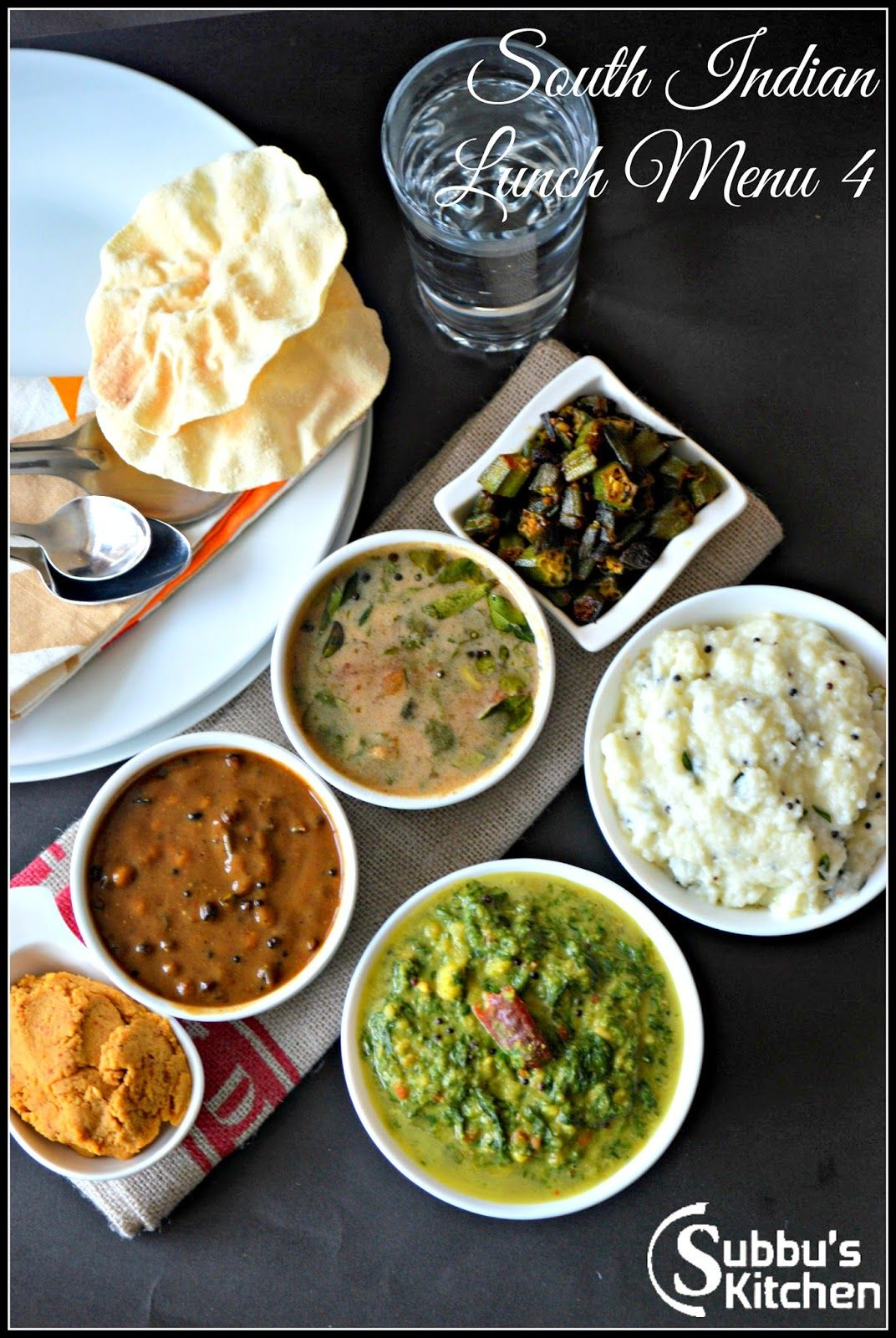 South Indian Lunch Menu 4 Vathakuzhambu, Araitha Rasam