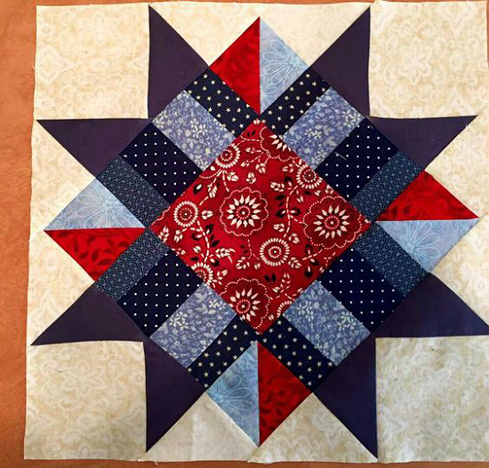 This Block is Stunning in Any Color Theme - Quilting Digest