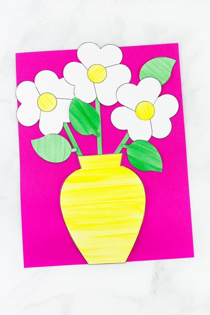Easy and fun paper flower bouquet craft heart painting paper easy and fun paper flower bouquet craft heart painting paper hearts and flower bouquets izmirmasajfo