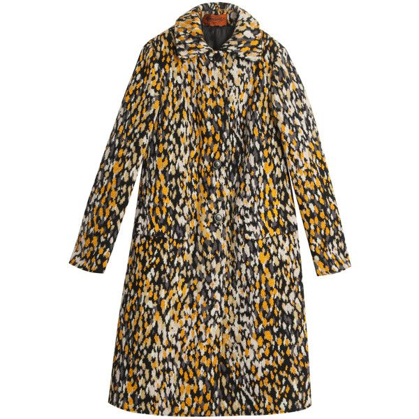 MISSONI Reversible Leopard Coat ($3,196) ❤ liked on Polyvore featuring outerwear, coats, leopard coat, rain coat, black coat, leopard print coat and black rain coat