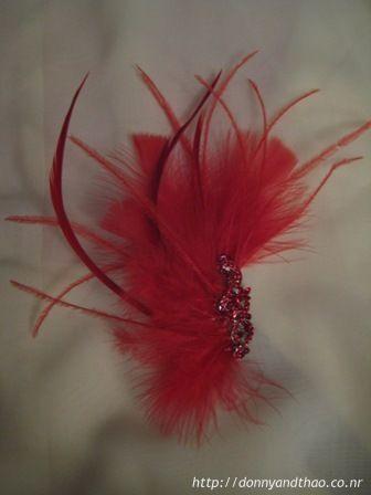 DIY feather hair comb fascinator for wedding e93182e449c