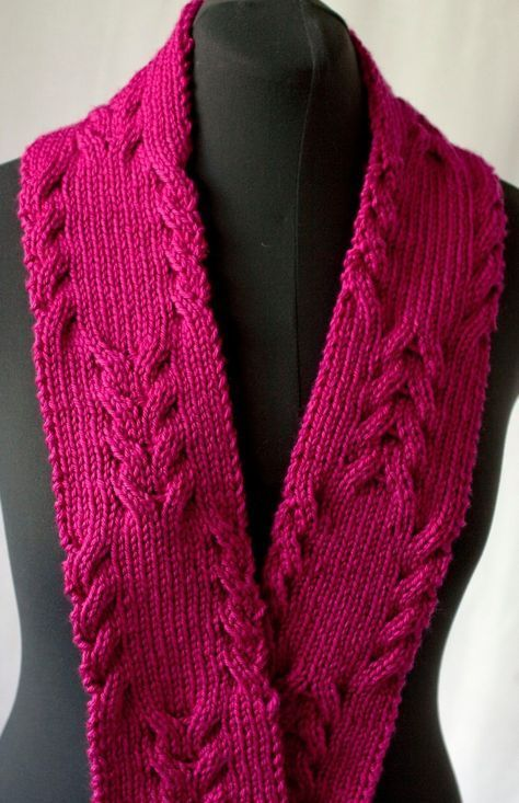 Free Knitting Pattern For Reversible Cabled Scarf Knitting