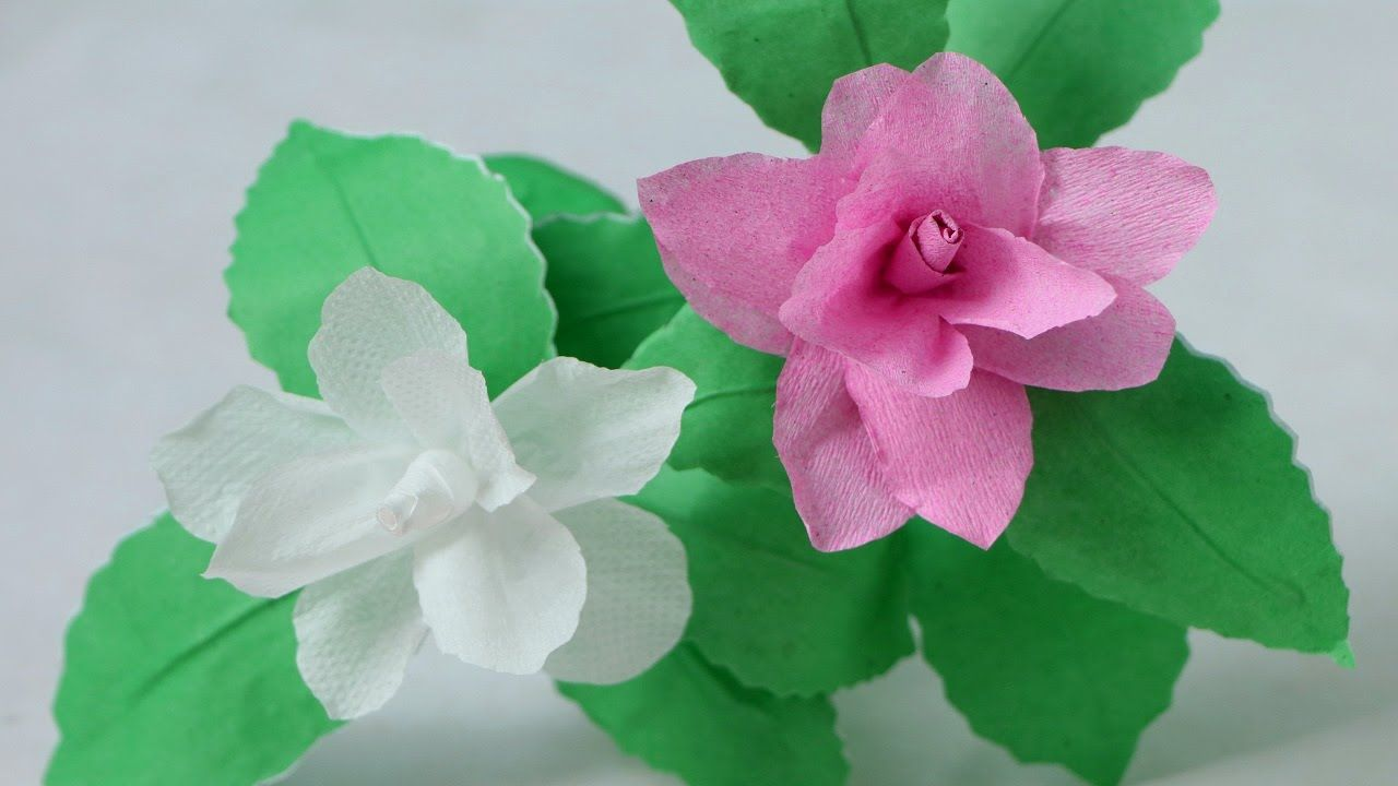 How To Make Camellia Tissue Paper Flowers Tissue Paper Flowers