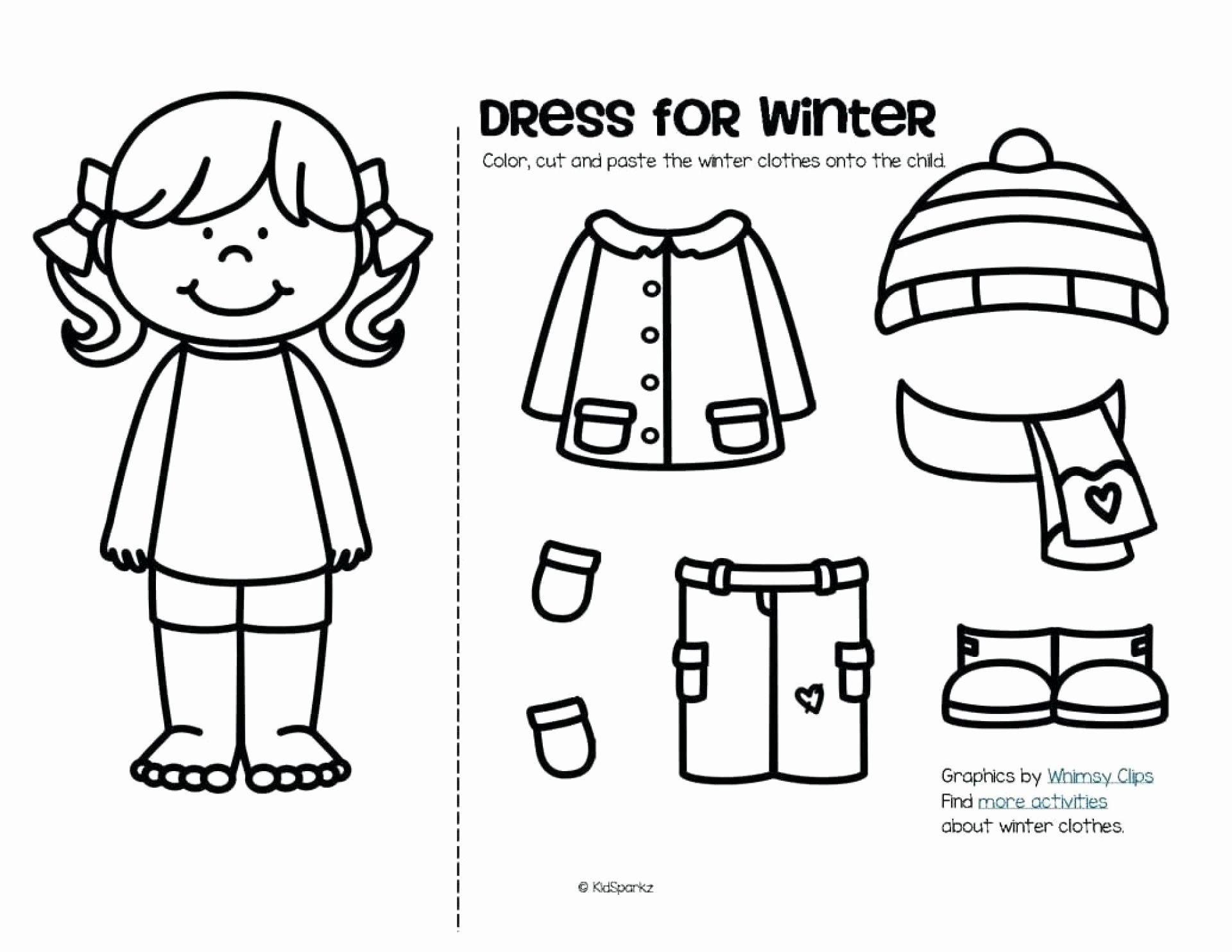 Winter Coloring Activities Preschool In