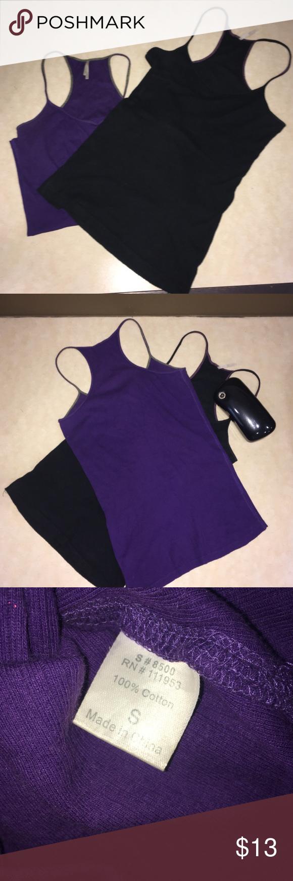 Set tank tops black and deep purple 💋Set tank tops black